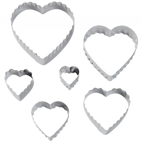 Heart Fondant Double Cut-Outs Set